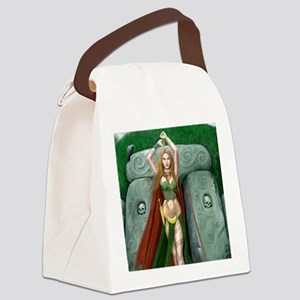 morrigan cropped almost square Canvas Lunch Bag