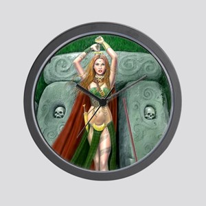 morrigan cropped almost square Wall Clock