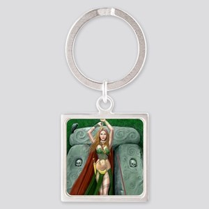 morrigan cropped almost square Square Keychain