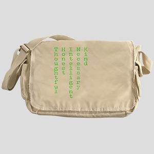 Think Green Transparent Messenger Bag