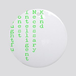 Think Green Transparent Round Ornament