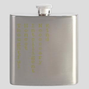 Think Yellow Transparent Flask