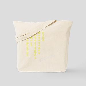 Think Yellow Transparent Tote Bag