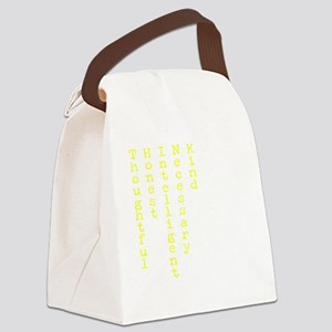 Think Yellow Transparent Canvas Lunch Bag