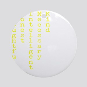 Think Yellow Transparent Round Ornament