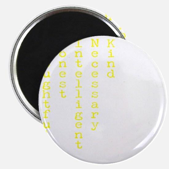 Think Yellow Transparent Magnet