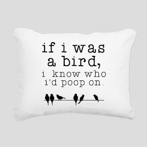 If I was a Bird Rectangular Canvas Pillow