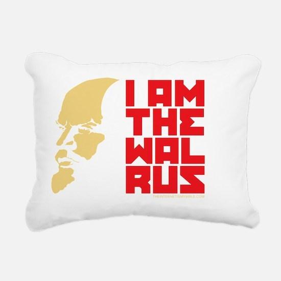 I am the walrus Rectangular Canvas Pillow