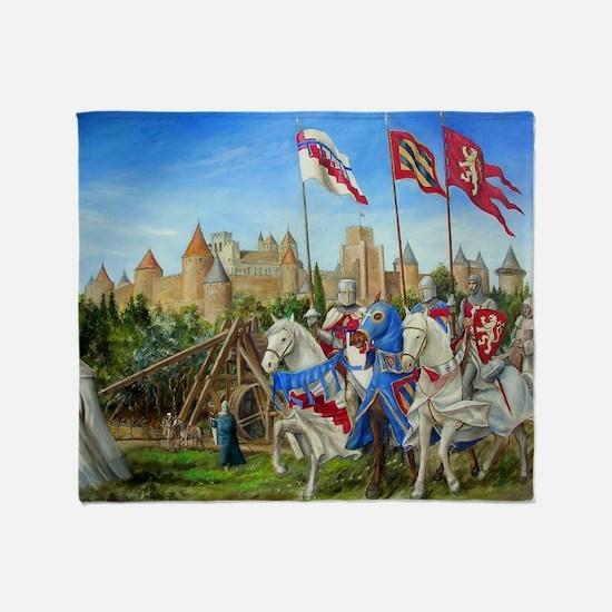 Dscn0918 siege carcassonne Throw Blanket