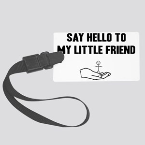 Little-friend-(white-shirt) Large Luggage Tag