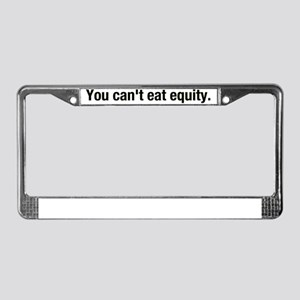 eat_equity License Plate Frame