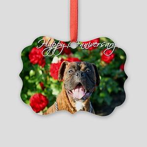 Happy Anniversary Boxer Picture Ornament