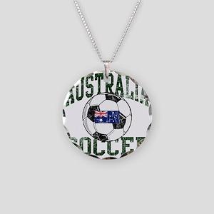 australia soccerballWHT Necklace Circle Charm