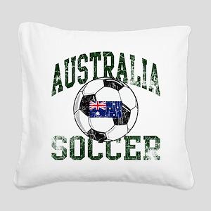 australia soccerballWHT Square Canvas Pillow