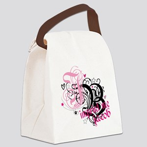 jb-PINK Canvas Lunch Bag