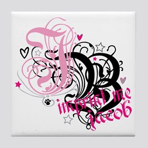 jb-PINK Tile Coaster