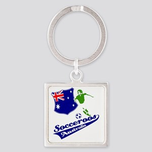 soccer player designs Square Keychain