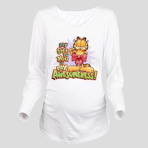 My Awesomeness Long Sleeve Maternity T-Shirt