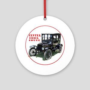 T-centerDoor-C8trans Round Ornament
