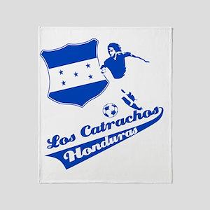 honduras_soccer Throw Blanket