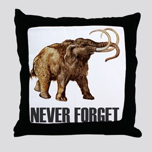 NF Woolly Mammoth-1 Throw Pillow