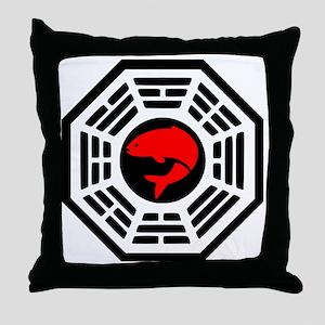 Red Herring Dharma Throw Pillow