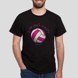 volleyball-pink Dark T-Shirt