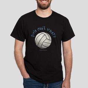 volleyball-white Dark T-Shirt