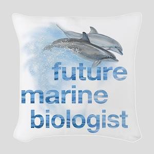 Future Marine Biologist Woven Throw Pillow