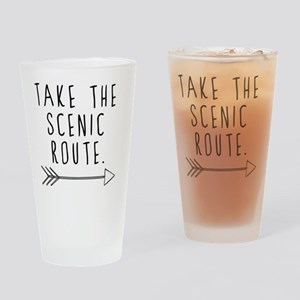 Scenic Route Drinking Glass