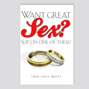 WantGreatSexLight Postcards (Package of 8)