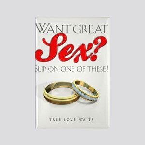 WantGreatSexLight Rectangle Magnet