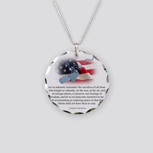 troops Necklace Circle Charm