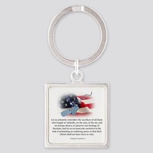 troops Square Keychain