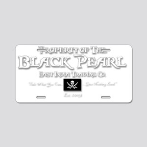 2-black pearl-d Aluminum License Plate