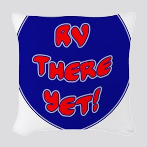 RVThere-HighwaySign Woven Throw Pillow