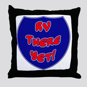 RVThere-HighwaySign Throw Pillow