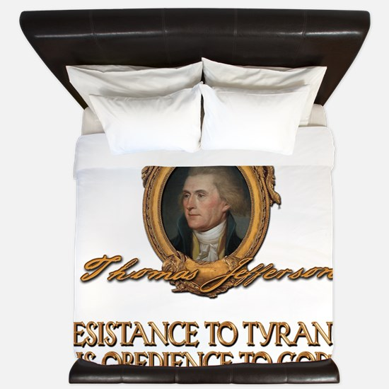 Jefferson Resistance to Tyrants King Duvet