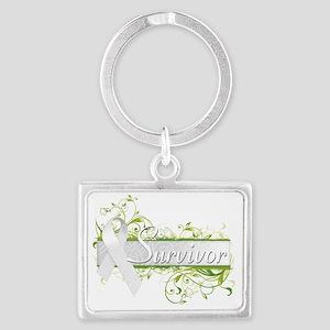 Survivor Floral White Landscape Keychain