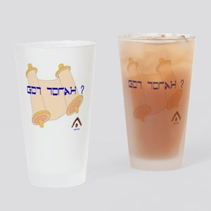 Got Torah large with ebionim logo Drinking Glass
