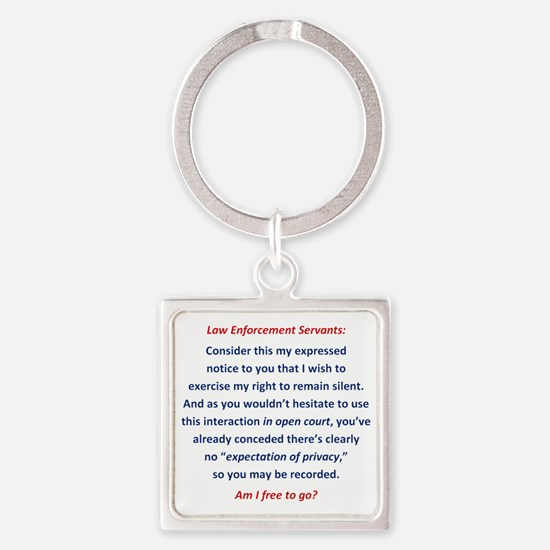 Miranda Warning Alternative Square Keychain