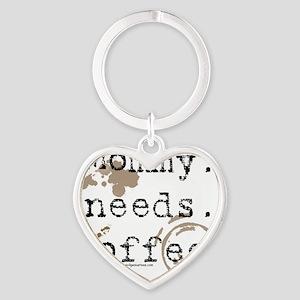 mommyneedscoffee Heart Keychain