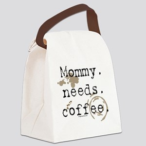 mommyneedscoffee Canvas Lunch Bag