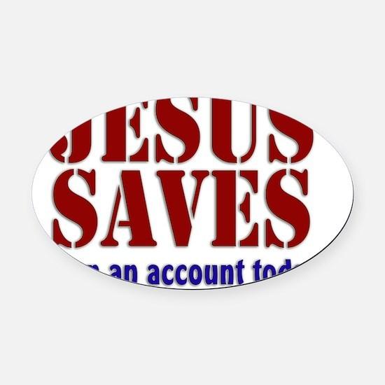 jesus_saves Oval Car Magnet