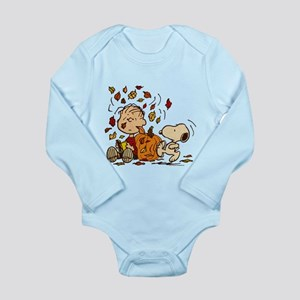 Fall Peanuts Long Sleeve Infant Bodysuit