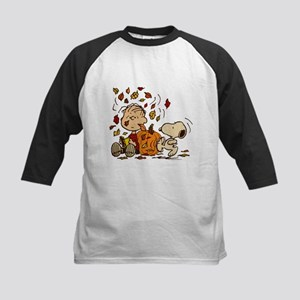 Fall Peanuts Kids Baseball Jersey