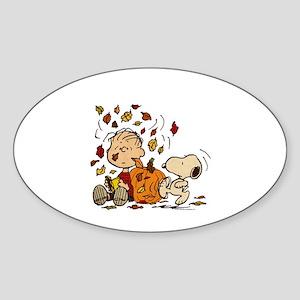 Fall Peanuts Sticker (Oval)
