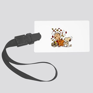 Fall Peanuts Large Luggage Tag