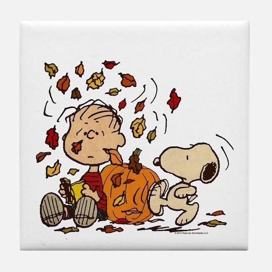 Fall Peanuts Tile Coaster