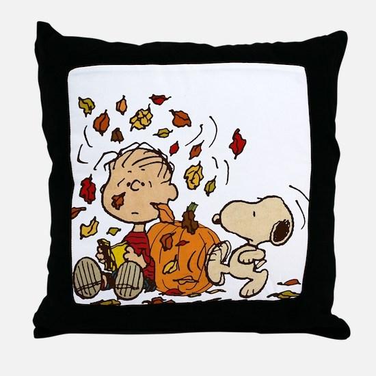 Fall Peanuts Throw Pillow